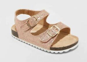 Toddler Girls Tisha Comfort Footbed Sandals Rose Gold - Cat & Jack™- CHOOSE SIZE
