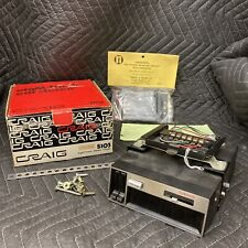 Vintage Craig 8 Eight Track Stereo Player S103 Box + Russell Slim-1H Mount Japan
