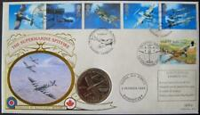 More details for 1997 benham spitfire isle of man crown coin fdc. very fine.