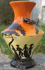Ancien grand vase Saint Jean du desert? Vallauris? farandole, Marseille