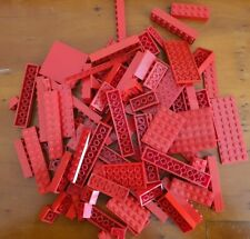 LEGO - 250g of MIXED Bricks RED used and Cleaned random mix