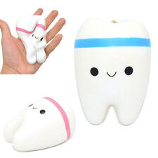 Cartoon Tooth Jumbo Squishy Cell Phone Straps Squeeze Kids Funny Slow Rising Toy