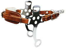 Horse Western English Leather Fleece Padded Bitless Hackamore Tack 35153