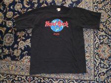 "HARD ROCK CAFE PARIS Original Vintage ""USER DISTRESSED"" T-Shirt Size Large"