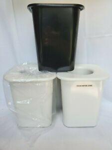 "3 CARLISLE 7.5"" Tall COLDMASTER  Whipped Cream Can Chiller CM110802 Black White"