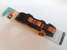 "Reflective Nylon Dog Collar Size Large 1"" thick Adjustable Costume Halloween"