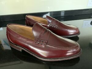 Beautiful Loake Loafers  759 T  Burgundy Made In England Uk Size 10 !!!
