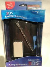 NINTENDO 3DS FULL ACCESSORY KIT BLACK LEATHER CASE, STYLUS AND CLEANING CLOTH