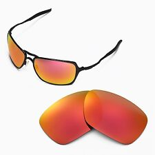 New Walleva Polarized Fire Red Replacement Lenses For Oakley Inmate Sunglasses