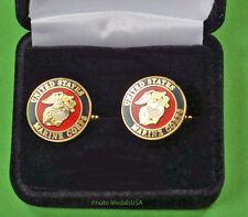 Marine Corps  Crest Cuff Links in Presentation Gift Box - USMC cufflinks