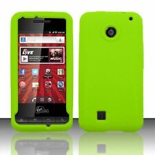 For Virgin Mobile PCD Chaser Rubber SILICONE Skin Soft Gel Case Cover Neon Green