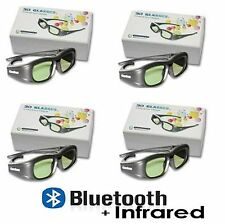 4PC 3D GLASSES UNIVERSAL ACTIVE SHUTTER IR, RF +BLUETOOTH FHD 3D TV!! SAMSUNG