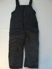 NWT Boys Black Snow Pants Bibs Sz 4 London Fog SKI Overalls Snowboard Winter NEW