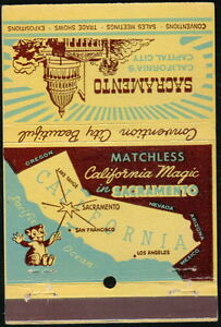 SACRAMENTO CA Bonza Bear Convention Capitol California Magic Match Book Cover