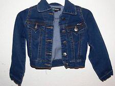Tractor Dark Blue Denim Jean Jacket Girls Size 6  mc