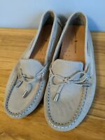 Women's Mercanti Fiorentini Slip On Moccasin Shoes Size 6.5B Taupe Brown