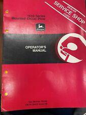 John Deere Owners Manual 1610 Series Integral Chisel Plow Omn159458