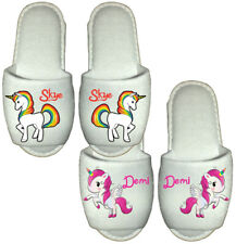 Unicorn Slippers personalised childrens kids novelty pony horse adults