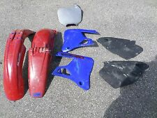 2000 YAMAHA YZ125 FRONT REAR FENDER SHROUDS SIDE COVERS YZ 125 98 99 00 01