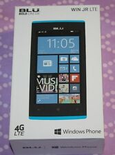 "NEW BLU Win Jr LTE - 4G LTE GSM Unlocked Windows Smartphone Blue 4.5"" IPS Qualco"