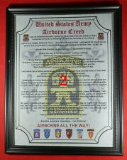 Mc-Nice: Army Airborne Creed 509th Pir Framed Personalized