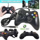 Wired USB Game Pad Controller for Microsoft Xbox 360 & Slim PC Windows 7 Black