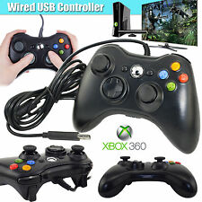 Black Wired USB Cable Controller for Microsoft Xbox 360 Console PC Computer