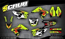 SCRUB Suzuki graphics decals kit RMz 250 2010-2018 MX stickers motocross '10-'18