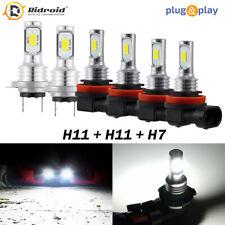 LED Headlight Combo H7+H11+H11 High Low Beam+Fog Light 6x Bulbs Kit 6000K White