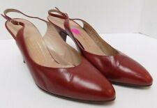 Bruno Magli Womens Heels Slingbacks Burgundy Leather Size 9.5B
