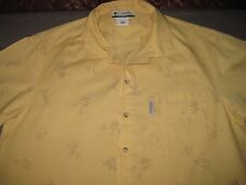 COLUMBIA  SHORT SLEEVE SHIRT YELLOW FLORAL MEN'S MEDIUM NICE!