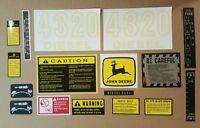 John Deere 4320 Tractor Hood & Safety Decal Set