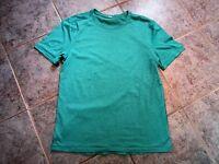 Lululemon mens short sleeve basic crew tee in green size medium static stripe