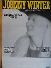 JOHNNY WINTER 1991  TOUR -  orig.Concert Poster  --  Konzert Plakat  NEU  A1