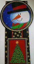 I) Christmas Fun Greeting Card Cardboard Holder Holiday Home Decor Santa Frosty
