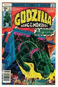 Marvel Godzilla Issue #6 Comic Book A Monster Enslaved Stan Lee Toho FN 6.0 1978
