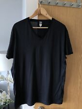 Mens G Star Raw V Neck T Shirt Black 100% cotton size L