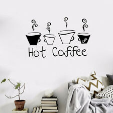 US!Wall Sticker Decal Hot Coffee DIY Removable Quote Mural Home Kitchen Decor