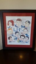 CARICATURE OF ASTRONAUTS 1996 LIFE MICROGRAVITY SPACELAB FLIGHT STS-78 SIGNED