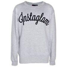 Camisas, camisetas y tops de niña de 2 a 16 años en gris con 100% algodón