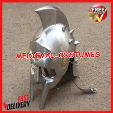Medieval Gladiator Helmet Greek Roman Knight Maximus Costum Armor Iron Helm ra74