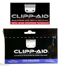 Clipp-Aid Crystals for sharpening Hair Trimmer Blades 9-packs 0.2oz. (blue)