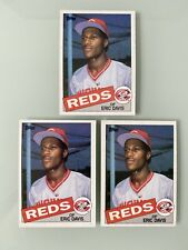 1985 Topps Eric Davis RC #627 Lot of (3) NM/MT