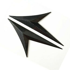 Car Side Wing Emblem Sticker Fender Decoration Accessories Carbon Fiber Style