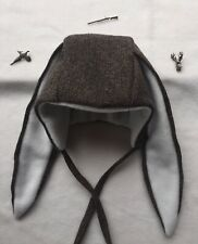 3-4y Tweed Winter Bonnet Hat With Rabbit Ears For Girls Or Boys