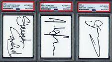 STING & THE POLICE Signed Autograph Auto 3x5 Cut Index Card x3 JSA PSA/DNA SLAB