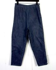 vtg 50s ROCKABILLY High Waist Denim Jeans Capris Tapered MARVEL side zip 29 X 24