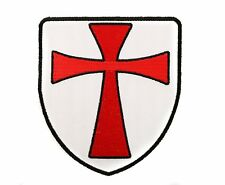 """Red Cross Knights Templar Shield Iron On Patch 4"""" Embroidered FAST US SHIPPING"""