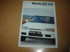DEPLIANT Mazda 323 4X4 de 1991