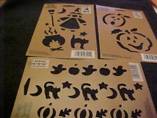Halloween Jack-o-Lantern Cats Witch Pumpkin by Plaid Simply Stencils 3 New